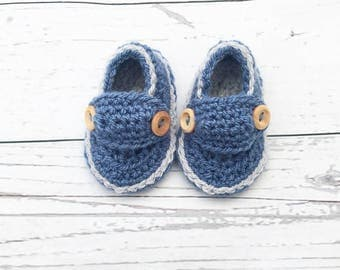 crochet baby loafers | baby boy loafers | crochet booties | baby boy shoes | baby shower gift | new baby gift | pram shoes