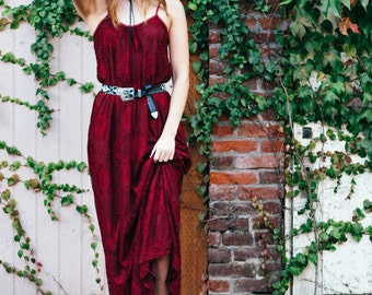 The Lily Maxi Dress in Red Wine