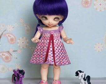 Pukifee outfit - dress and bloomers set - Lati Yellow Purple and pink clothes -  pants