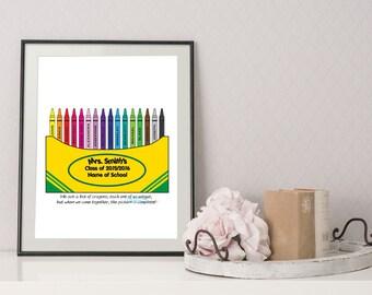 Teacher Thank You Gift - Teacher Crayon Box - Gift for Teacher - Teacher Appreciation Gift - Teacher Gift - Student Gift to Teacher