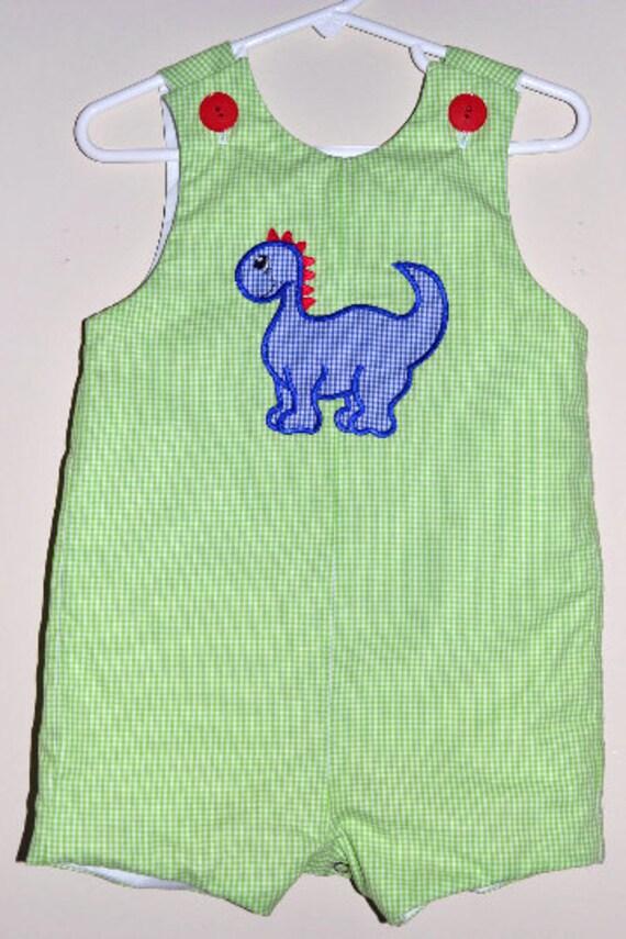 Custom made Personalized Monogrammed Dinosaur Jon Jon, Romper