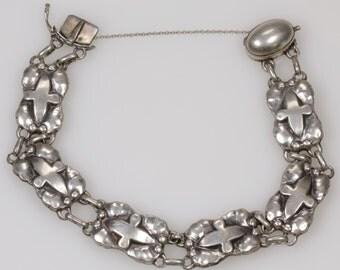Georg Jensen Vintage Sterling Silver Bracelet #13 Circa 1930s 20th Century Made In Denmark