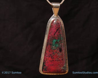 Sonoran Sunset in Argentium Sterling Silver Pendant