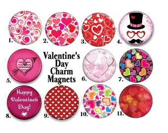 Valentine's Day Charm Magnets ~ Your Choice of One Magnet ~