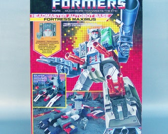 Vintage G1 Transformers Fortress Maximus 100% Complete with Box, Insert & Instructions and Receipt C9 Near Mint