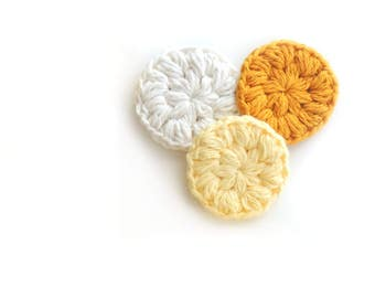 FACE SCRUBBIES - COTTON face scrubby, Crochet face scrubby, Makeup Remover pads, facial scrubbies, Facial care, cleaning pads, face scrub
