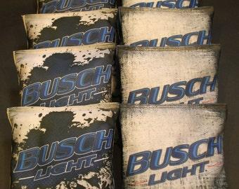BUSCH LIGHT Beer Custom Cornhole Bean Bags 8 Aca Regulation Corn Hole Bags