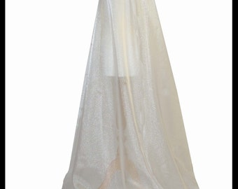Beautiful Ivory Shimmer Organza Cloak. Ideal for a Summer Wedding, Handfasting or Medieval Event. Brand New. Made Especially For You.