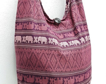 Women bag Handbags Cotton bag Elephant bag Hippie Hobo Boho bag Shoulder bag Sling bag Messenger bag Tote Crossbody bag Purse Orchid Pink