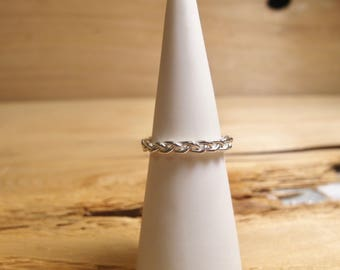 Sterling Silver Stackable Braid Ring
