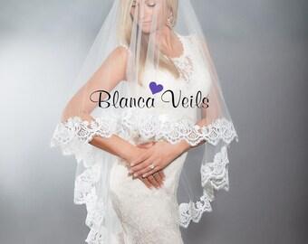 Beautiful Lace Drop Veil