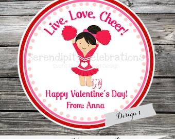 Printable Valentine Cards, cheerleading Valentine's Day Cards, Classroom Cards, Valentine's Day,  Kids Valentine Cards, DIY Valentine's Card