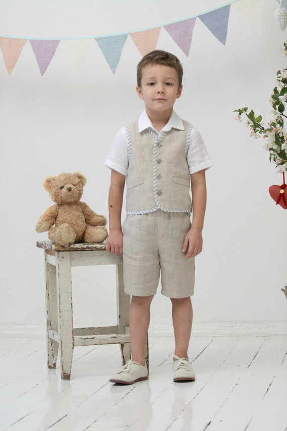 Ring Bearer Outfit Toddler Boy Vest And Shorts Wedding Party