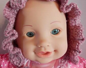Dusty Rose Baby Bonnet