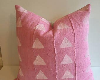 SALE !!!22 inch Faded Pink  African mudcloth pillow cover