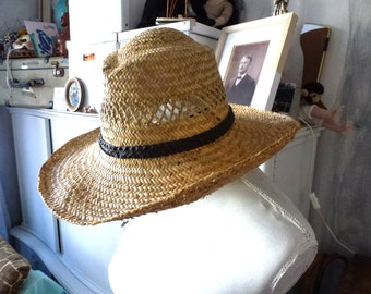 straw men hat- authentic hand made hat