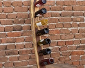 Riddling rack, Wooden wine stand, Wine shelf, Acacia wood wine rack, Wine bottle holder, Small wine rack, Gift, Kitchen storage