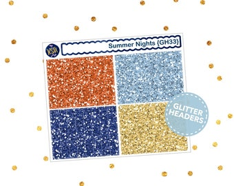 Summer Nights // Glitter Headers {GH33}