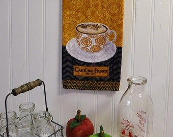 French kitchen towel  - Paris Cafe hand towel - Paris cafe towel - Paris kitchen decor – Kitchen Paris – Paris hand towel –coffee kitchen
