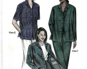 Saf T Pockets Blouses Pants Sewing Pattern Hidden Pockets Two for the Road Travel Wear Plus Sizes Included XS to 3XL Uncut Factory Folds