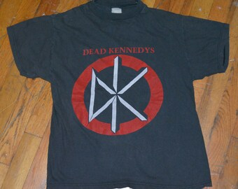 1980's DEAD KENNEDYS original vintage concert tour rare punk rock t-shirt (S/M) Medium tee tshirt 80s DK Jello Biafra
