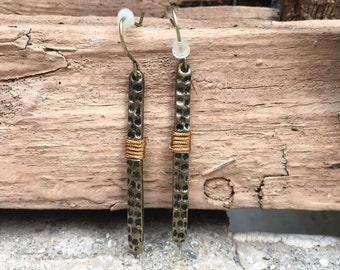 Hammered Earrings, Hammered Jewelry, Boho Earrings, Boho Jewelry, Gypsy Jewelry, Bohemian Earrings, Dangle Earrings, Hippie Earrings