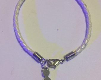 Cat Lovers Braided Leather Bracelet