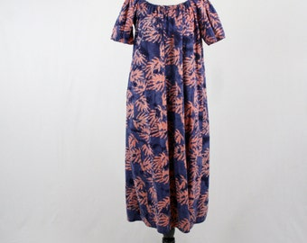 Vintage Cotton Batik Mu Mu Dress