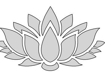 "8"" W String Art Lotus Flower Pattern / Template"