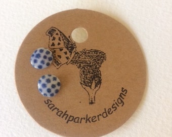 Blue spotted studs