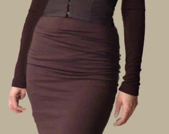 Dress, wool , designer, two piece dress, PARIS  1990, bustier dress  --summer SALE!