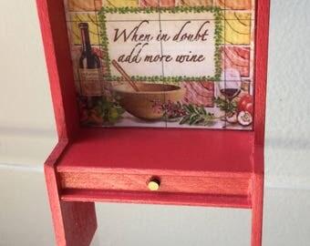 "Dollhouse Miniature Cabinet 1"" Scale   (JB)"