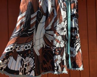 Retro Mod Print Skirt