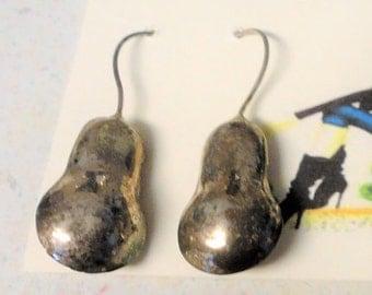 Silver Ear Wire Earrings Hollow Design Drop Mid Century 6.3 Grams