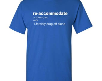 Re-Accommodate Definition Funny T Shirt - Royal Blue