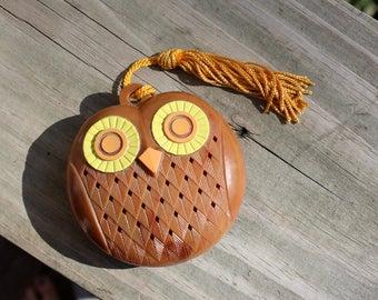 Vintage Avon Owl Potpourri Holder / Sachet / Pomander