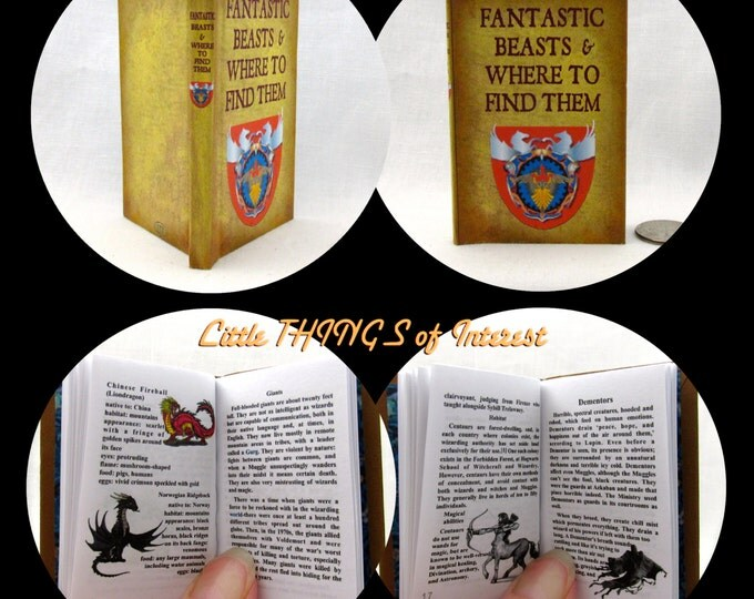 FANTASTIC BEASTS And Where To Find Them 1:3 Scale Readable Book Harry Potter Book 18 inch AG Doll 1/3 Scale
