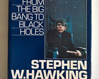 A Brief History of Time: From the Big Bang to Black Holes by Stephen Hawking - Introduction by Carl Sagan Illustrated by Ron Miller Vintage