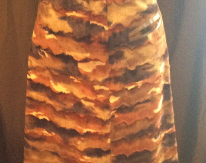 Vintage handmade faux fur skirt, vintage skirt, vintage faux fur, free shipping in US,  vintage clothes, vintage ladies skirt, tribal skirt
