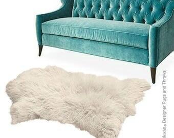 Plush Faux Fur Area Rug   Luxury Fur Thick Shaggy Icelandic Sheepskin    Pendleton Shape Designer