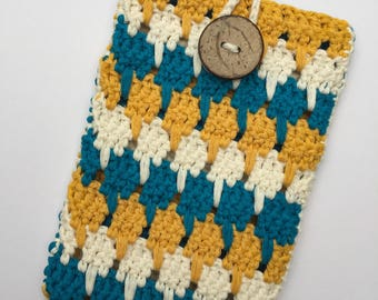 Crochet Phone Bag / phone sleeve / smartphone bag / mobile phone bag/ custom phone bag / boho phone bag / iphone bag / boho iphone bag