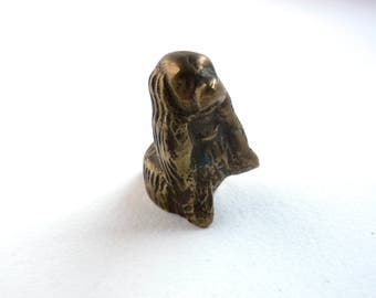 Solid Brass - Dog Figurine - Vintage Figurines - Antiques and Collectibles