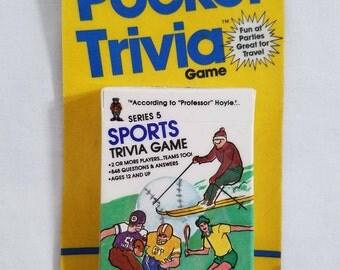 Hoyle Pocket Trivia Sports Trivia Game 1984 Playing Card Game