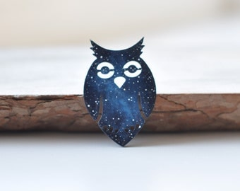 Owl brooch Christmas gift Birthday Animal Wooden brooch Bird Pin For sister Unique idea Animal Woodland Girlfriend For lovers Forest Ideas