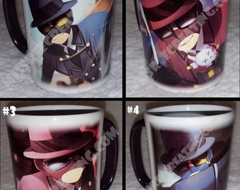 SET OF FOUR Color Change Mug MrPaladin Anime Art