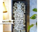 Wine Typography, Wine Cork Holder, Wine Lovers Gift, Gift for Wine Drinkers, Mother's Day Gift, Girlfriend Gift, Wife Gift, Gift for Mom