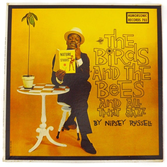 Vintage 60s Nipsey Russell The Birds and The Bees and All That Jazz Comedy Album Record Vinyl LP