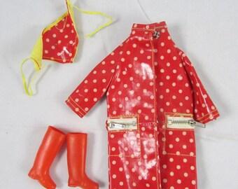 Francie Polka Dots & Rain Drops COMPLETE #1251  Mod Barbie Doll VTG 1966 Clothes