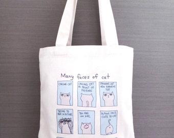 Cat Tote Bag Many Faces Of Cat Tote bag
