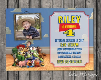 Toy Story Birthday Invitation Digital Download